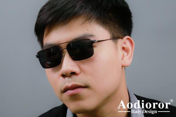 โปรโมชั่นกรอบแว่น Aodioror โพลาไรซ์ พร้อมเลนส์แว่นตาโปรเกรสซีฟ ISOPTIK New Multi Pro 1.6